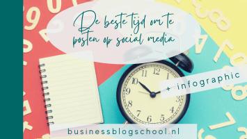 Wanneer kan je het beste iets delen op social media? Overzicht LinkedIn, Instagram, Facebook, Twitter